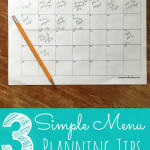 3 Simple Menu Planning Tips