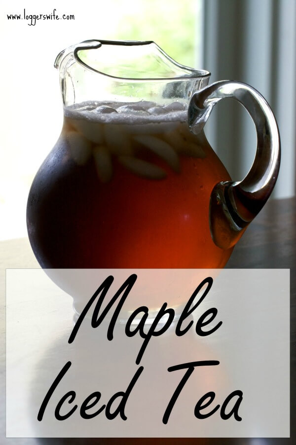Maple Iced Tea is not only tasty but it is also a healthier iced tea for you than using traditional white sugar. Click to get the recipe!