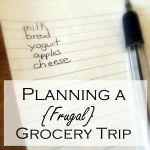 Planning a {Frugal} Grocery Trip