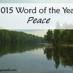 2015 Word of the Year: Peace