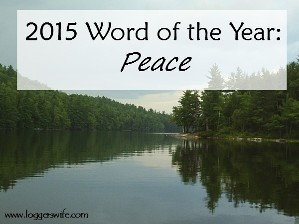 2015 Word of the Year: Peace.....Trusting God is the easy part. Having peace and not being anxious that He does have it under control is so much harder.