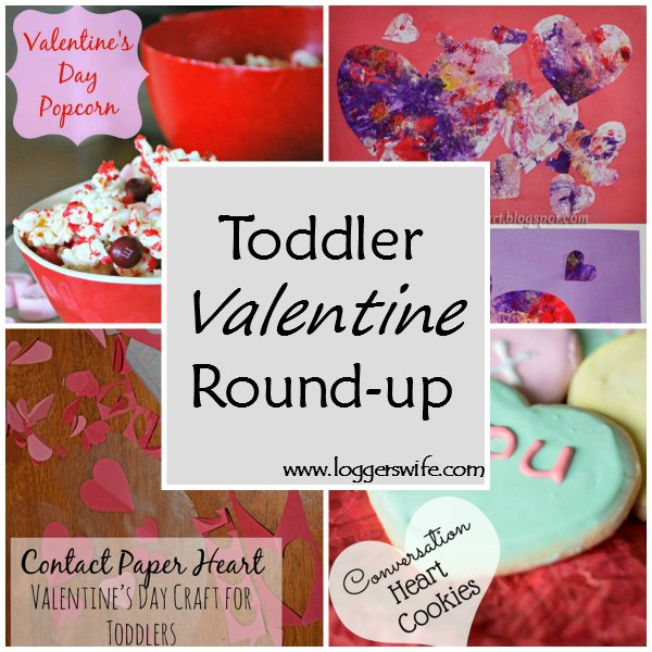 Toddler Valentine Round-Up...a collection of Valentine's Day themed crafts and treats to make and enjoy with your toddler or preschooler