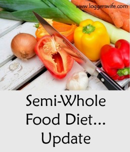 Semi-Whole Food Diet…Stalled