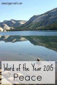 Word of the Year 2015 {Peace} Check-In