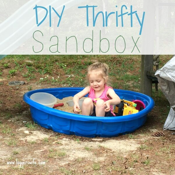 Looking for a sandbox but don't want to spend a lot of money? Read more to see how you can create a thrifty DIY sandbox.