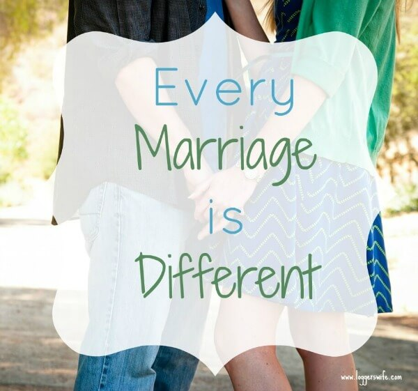 Have you ever judged someone else's marriage without even realizing it? Come find out why I think it is normal and totally fine for every marriage to be a little different.