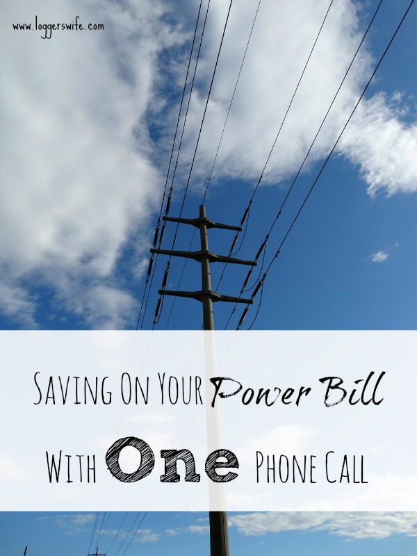 Saving on your power bill is something every one wants. Read more to see how one simple phone call could save you more than $50 each month.