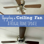 Upcycling a Ceiling Fan with Spray Paint