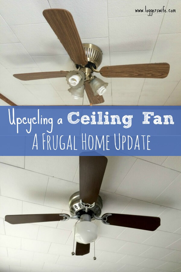 Upcycling A Ceiling Fan With Spray Paint Logger S Wife
