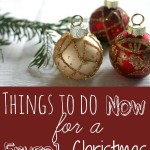 Things to Do Now for a Frugal Christmas