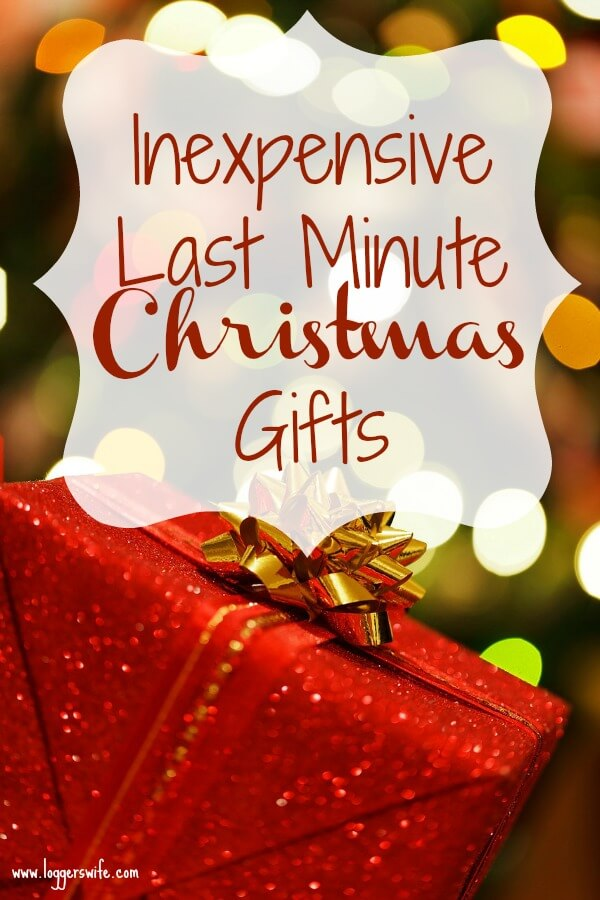 Inexpensive Last Minute Christmas Gifts