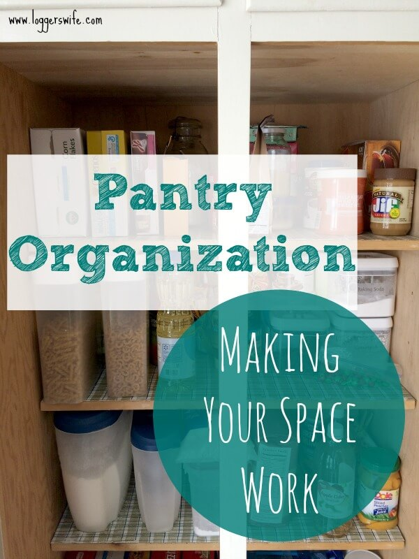 Pantry organization making your space work logger 39 s wife for Cost to build a pantry