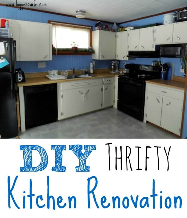 Home renovations are considering to be expensive but they don't have to be. Check out my thrifty kitchen renovation for ideas on how to update your own!