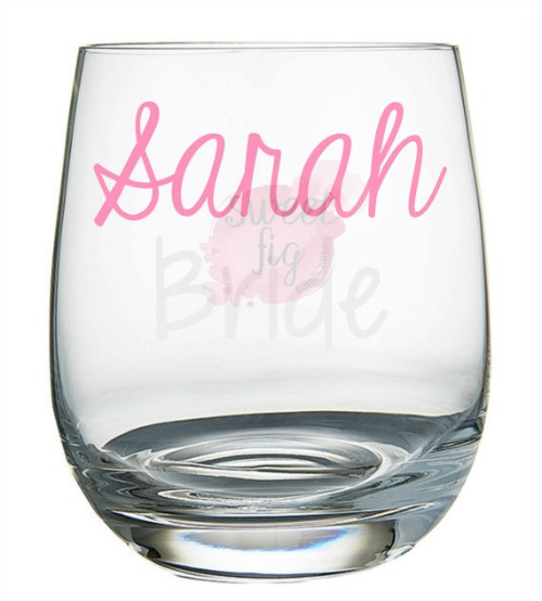 bridesmaid wine glass-sweet fig