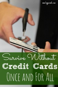 Survive Without Credit Cards Once and For All