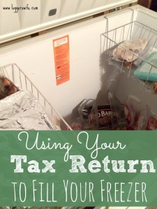 Using Your Tax Return to Fill Your Freezer