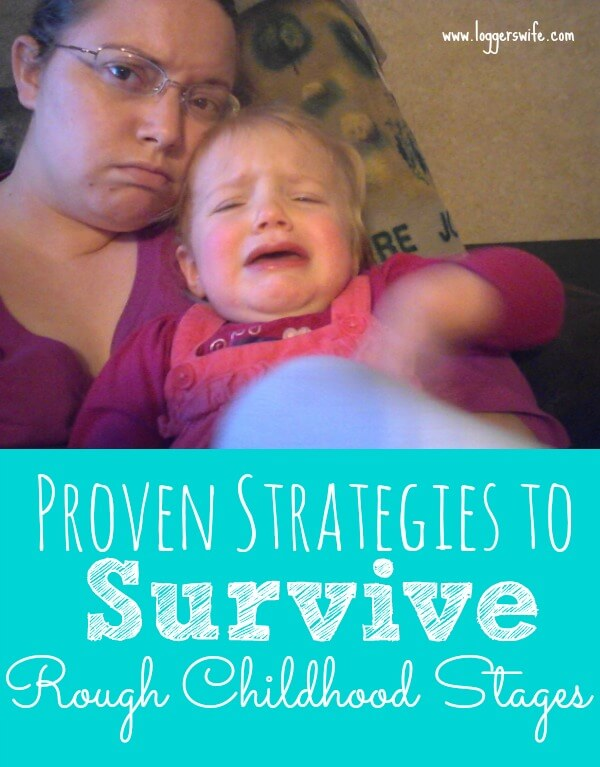 Rough childhood stages can take a lot out of a mom. Check out these proven strategies to help you get through them and keep your sanity!