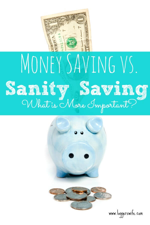 Sometimes it's hard to to figure out which wins the battle of money saving vs. sanity saving. Ask yourself these 4 questions to figure out which way to go.