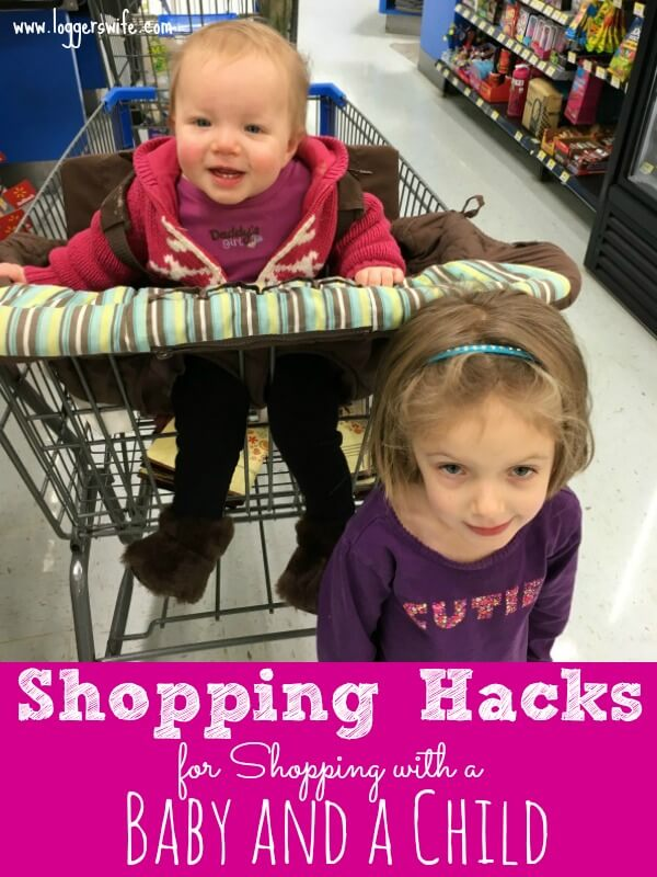 Shopping with a baby and a child is not for the faint of heart. Try out these hacks to make your next grocery trip a little easier.