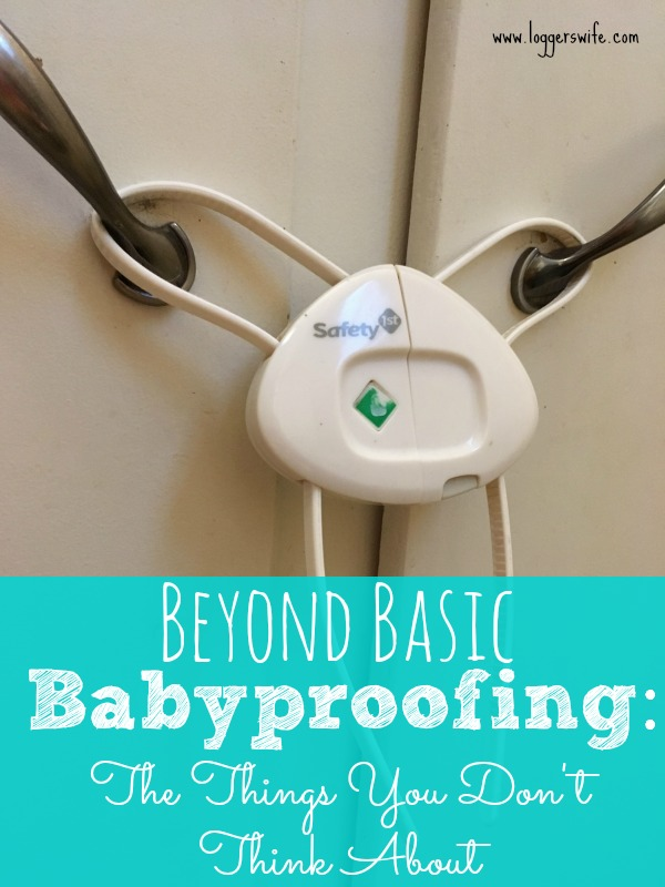 Most of us know to lock up the cleaning supplies and knives but what about other things? Check out my tips for going beyond basic babyproofing.