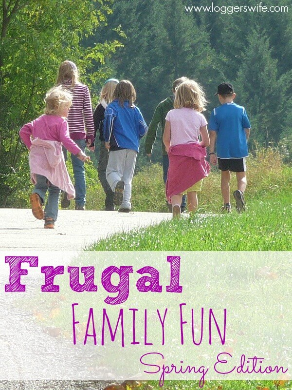 Looking for fun ways to welcome spring with your family that won't cost a lot of money? Check out these ideas for frugal family fun!