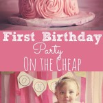First Birthday Party on the Cheap