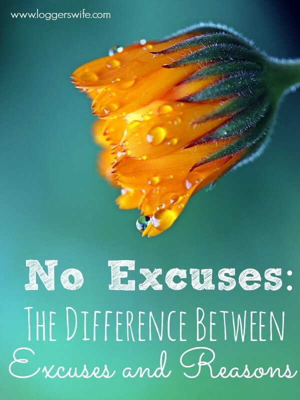 No excuses! You hear it all the time. But how do you know what's an excuse and what's a reason? Is there a difference? Read to find out!