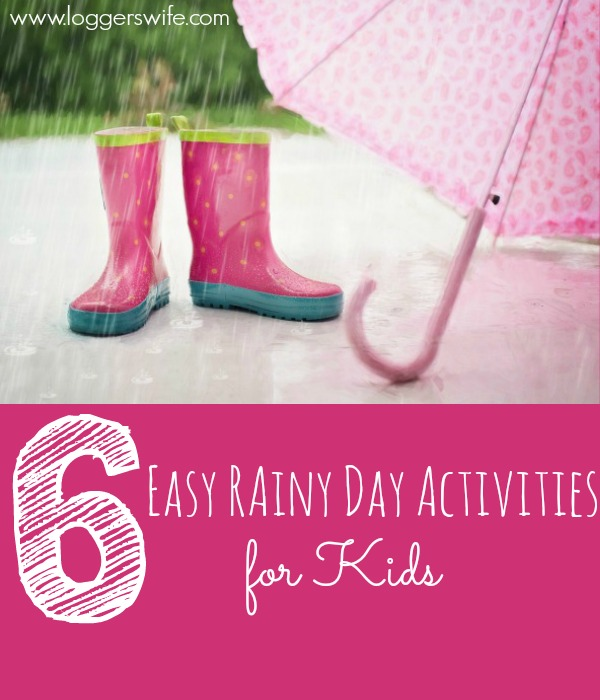 Kids stuck inside and bored? Don't want to turn the TV on? Need some easy rainy day activities? Check out these six ideas!
