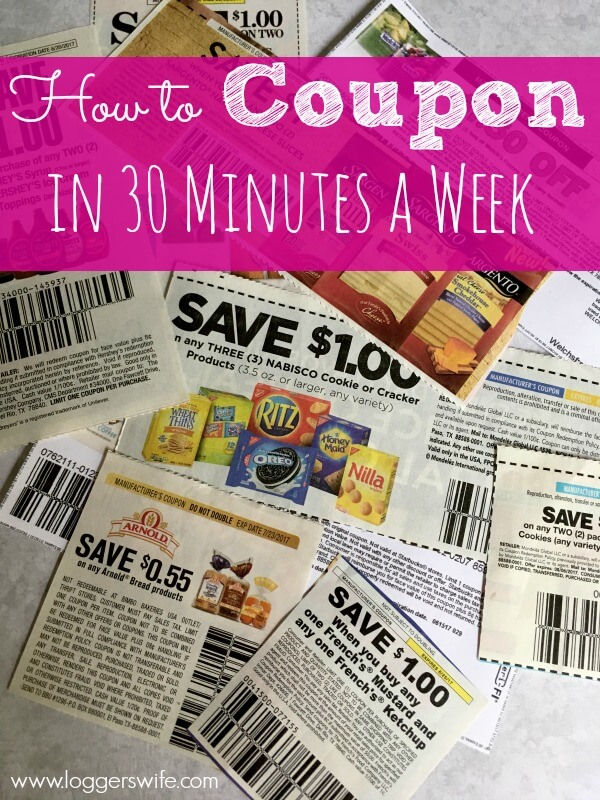 Want to know how to coupon in 30 minutes a week? Find out how to make the most of your time, save money, and save time for more fun things!!
