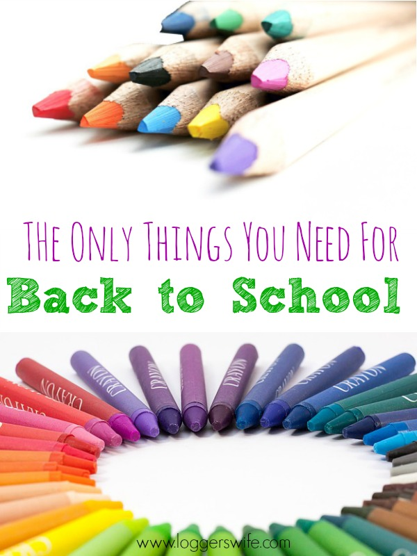 Do you really need all the things for back to school? Probably not! Find out the only things you really need for back to school and save money!!