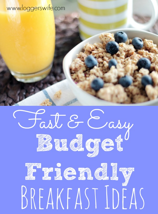 Who has time for a big breakfast on busy days? Fast breakfasts don't have to be expensive Check out these budget friendly breakfast ideas