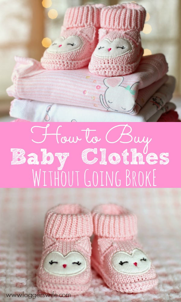 Is it possible to buy baby clothes without going broke? Cute clothes? Yes! Click to find out tips that will have your baby stylish without costing you a ton