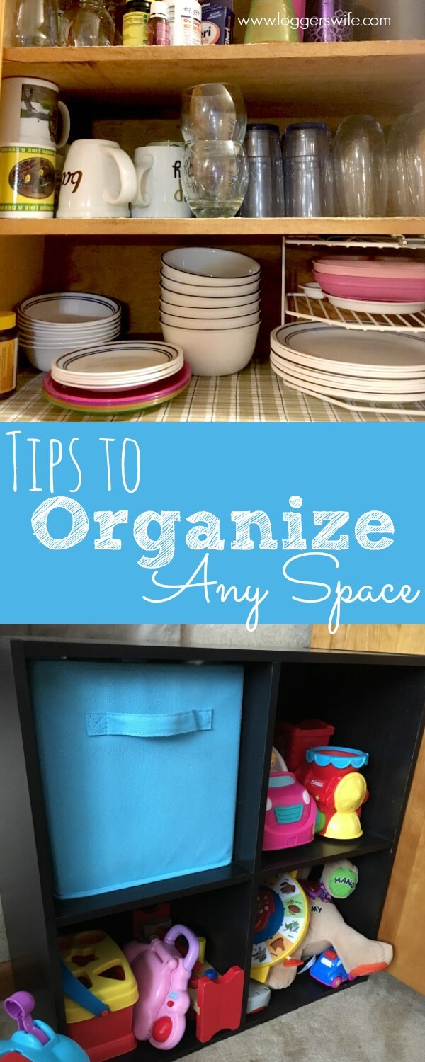 Want a more organized house but don't know where to start? Check out these steps to organize any space. No more messy, disorganized home!