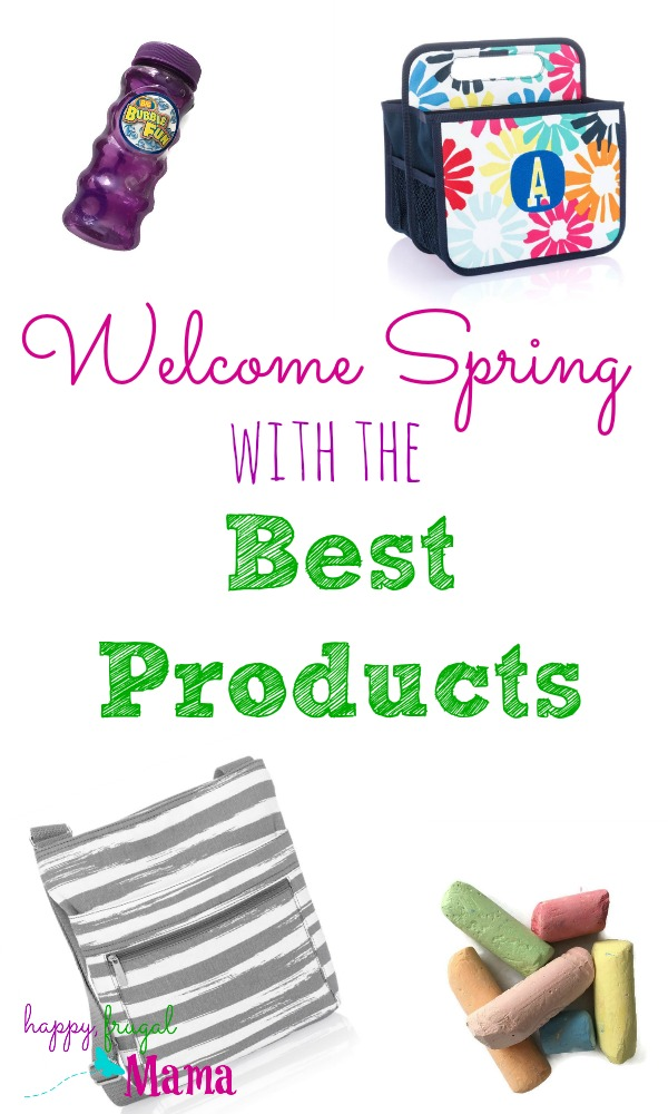 Spring is here! There are some things that just scream spring. Welcome in the season with these best spring products. Things for you and things for the kids!