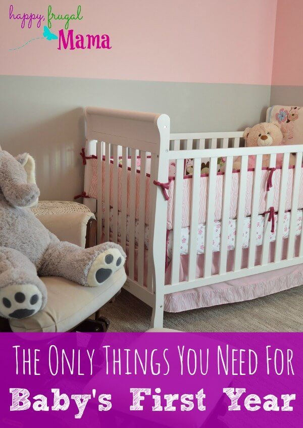 It can be overwhelming to know what you need to buy for your baby. There's so much stuff out there! Find out the only things you need for baby's first year. All the rest is just extra!