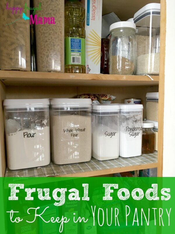 When you're trying to cut back on expenses, one of the easiest places to start is the grocery bill. To help with that, be sure to keep these frugal foods in your pantry.